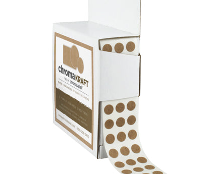 True Kraft Paper Dots: 1,000/Box