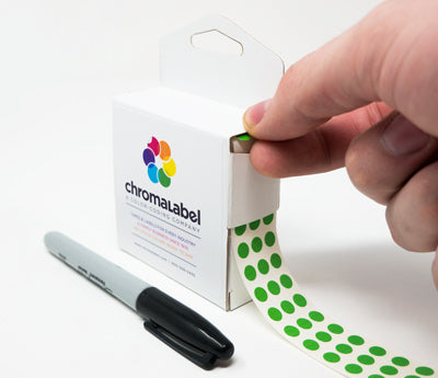 "0.25"" Writable Dot Stickers"