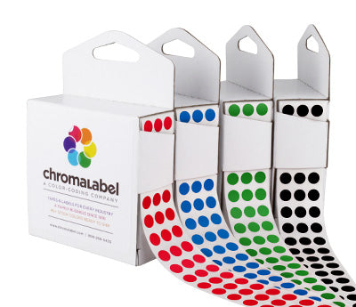 1/4 Permanent, Color Code Dots: 1,000/Box