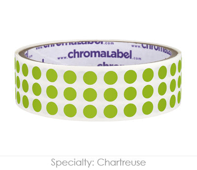 "0.25"" Chartreuse Round Dot Stickers"