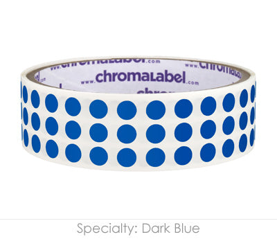 "0.25"" Dark Blue Round Dot Stickers"