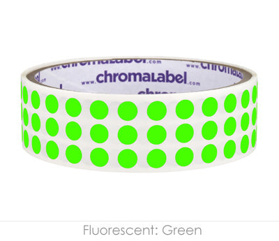 "0.25"" Neon Green Round Dot Stickers"
