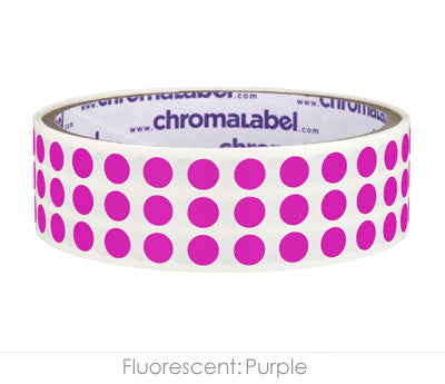 "0.25"" Neon Purple Round Dot Stickers"