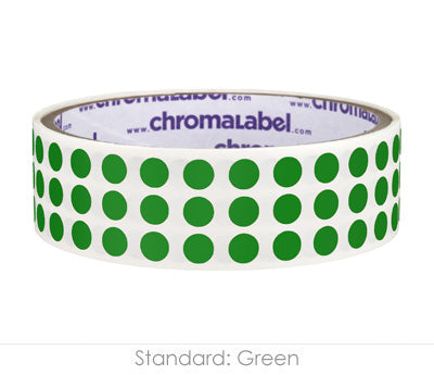 "0.25"" Green Round Dot Stickers"