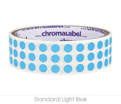 "0.25"" Light Blue Round Dot Stickers"