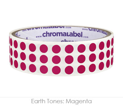 "0.25"" Magenta Round Dot Stickers"