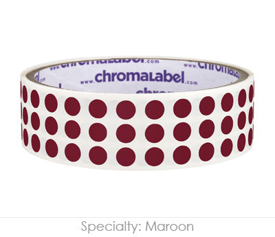 "0.25"" Maroon Round Dot Stickers"