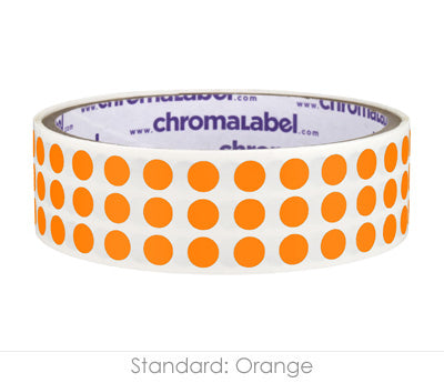 "0.25"" Orange Round Dot Stickers"