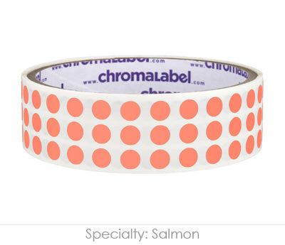 "0.25"" Salmon Round Dot Stickers"