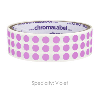 "0.25"" Violet Round Dot Stickers"