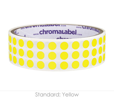 "0.25"" Yellow Round Dot Stickers"