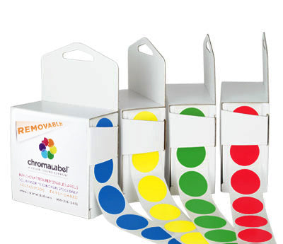 1 Removable, Color-Code Dots: 1,000/Box