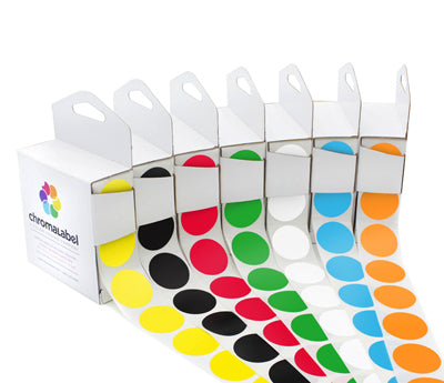 "1"" Color-Coding Labels Variety Kit"