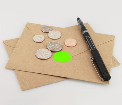 "1"" Fluorescent Dot Sealing Envelope"