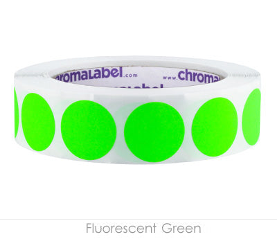 "1"" Neon Green Clean-Remove Labels"