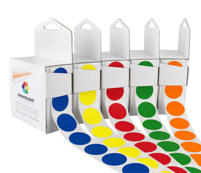 "1"" Clean Remove Color Coding Labels"