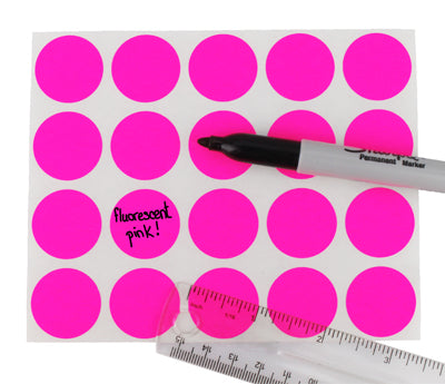 "1"" Clean Remove Neon Writable Labels"