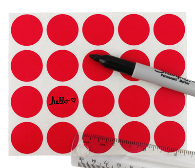 "1"" Clean Remove Writable Labels"