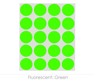 "1"" Neon Green Color Coding Dots"