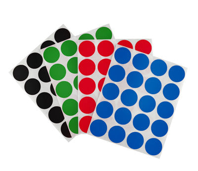 """1//4/"""" GREEN Round Color Coding Inventory Label Dots Stickers MADE IN USA"""