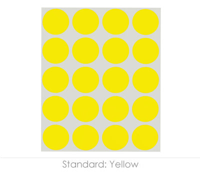 "1"" Yellow Color Coding Dots"