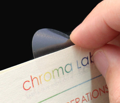 Non-Perforated ChromaLabel 1 Inch Round Clear Wafer Seals 1000 Roll