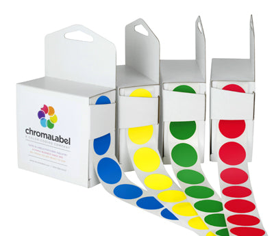 "1"" Colored Dot Sticker Labels"