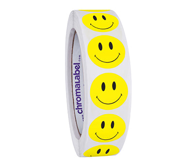 "1"" Round Smiley Face Stickers"