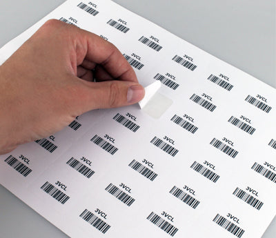 "1"" x 1.5"" Laser Labels Peel Easily"