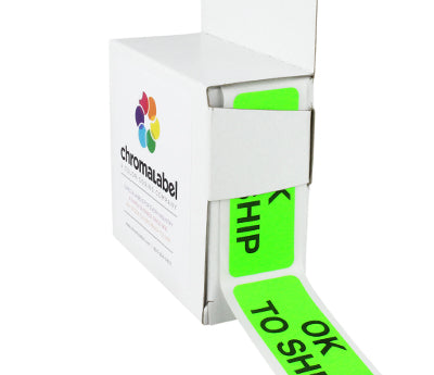 Neon Green Quality Control Labels