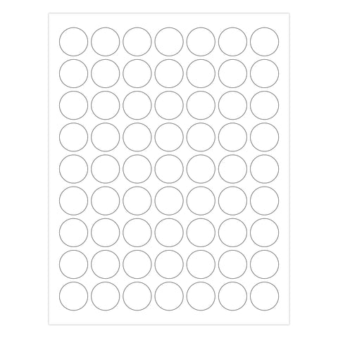 1 Inch Round Printable Labels