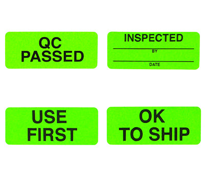 Quality Control Labels - 1 x 2-1/2 - 200/Box