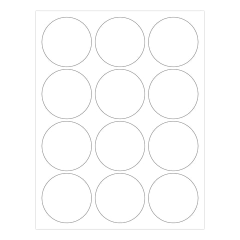 Round Printable labels 2.5 inch