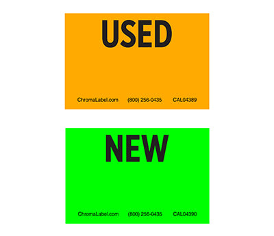 "2"" x 3"" Fluorescent Inventory Control Labels"