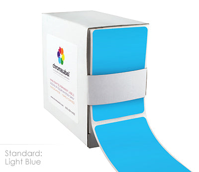 "2"" x 3"" Light Blue Rectangle Labels"
