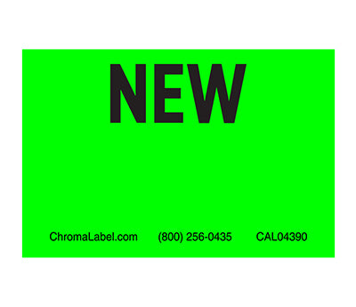 "2"" x 3"" Neon Green Inventory Labels"