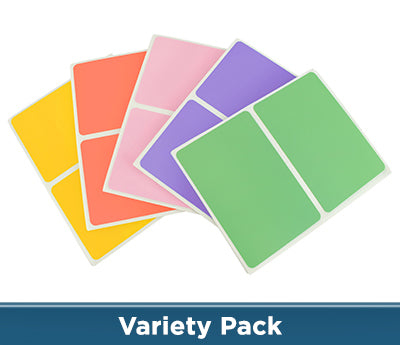 2 x 3 Color-Code Sheeted Rectangle Kits (Pastel): 150/Pack