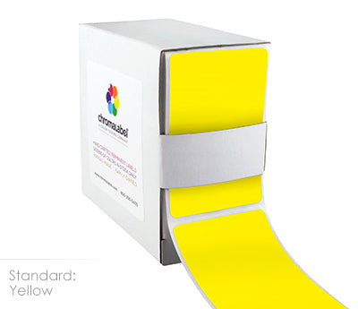 "2"" x 3"" Yellow Rectangle Labels"
