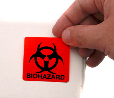 "2"" x 2"" Biohazard Safety Stickers"