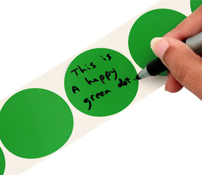 "2"" Writable Round Color Coding Labels"
