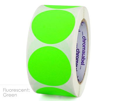 "2"" Removable Neon Green Labels"
