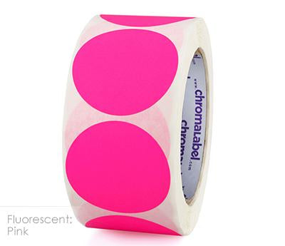 "2"" Removable Neon Pink Labels"