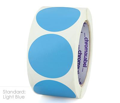 "2"" Removable Light Blue Labels"