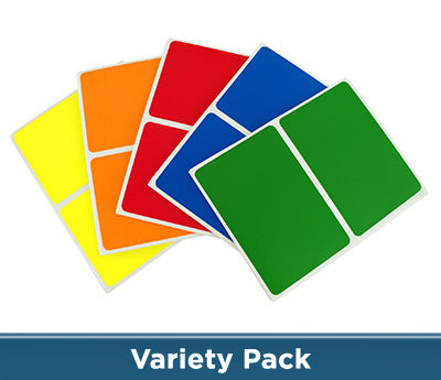 2 x 3 Color-Code Sheeted Rectangle Kits (Primary): 150/Pack
