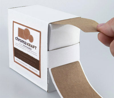 "2"" x 3"" Kraft Labels Dispensing"