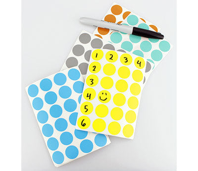 "0.75"" Writable Coding Dot Stickers"
