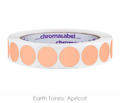 "0.75"" Apricot Color Coding Labels"