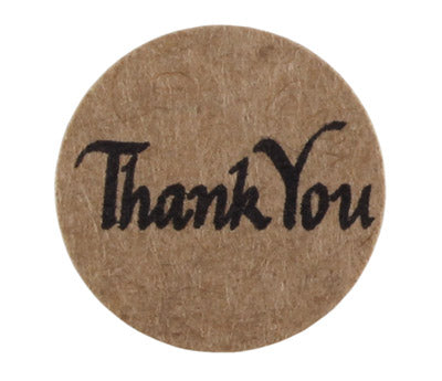 "True Kraft 3/4 inch ""Thank You"" Dots - 126 Labels per Pack"
