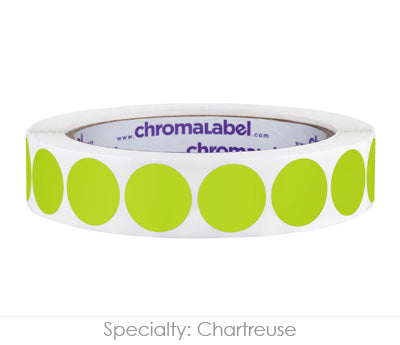 "0.75"" Chartreuse Color Coding Labels"