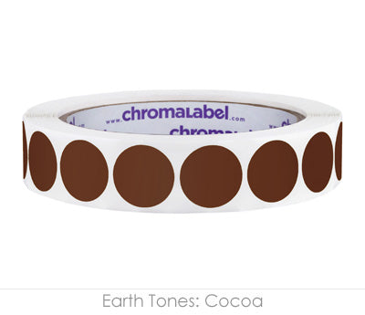"0.75"" Cocoa Color Coding Labels"